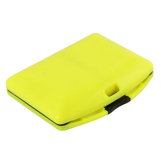 Fishing 24 Compartments Fish Hook Bait Storage Box Case Holder Green Yellow