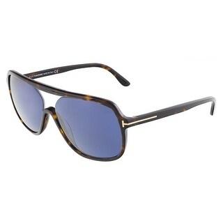 Tom Ford FT0442/S 52V ROBERT Dark Havana Square sunglasses
