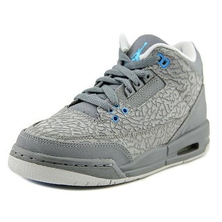 Jordan Air Jordan 3 Retro GS Youth Round Toe Synthetic Gray Sneakers