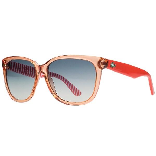 1ec073333d Shop Lacoste L710 S 800 Clear Orange Rectangle Sunglasses - 55-14 ...