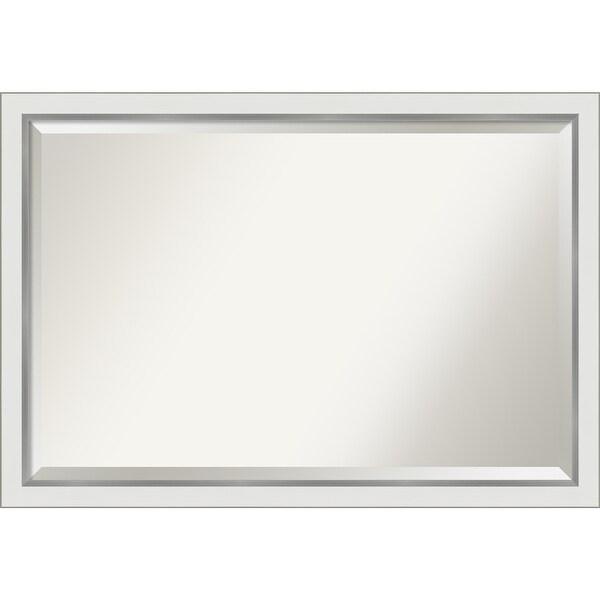 Eva White Silver Narrow Bathroom Vanity Wall Mirror. Opens flyout.