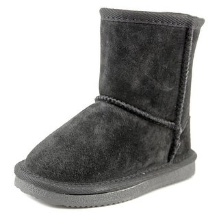 Lamo Kids Classic Boot Toddler Round Toe Suede Black Winter Boot
