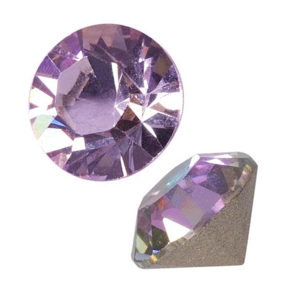 Swarovski Crystal, 1028 Xilion Round Stone Chatons ss29, 12Pieces, Crystal Vitrail Light