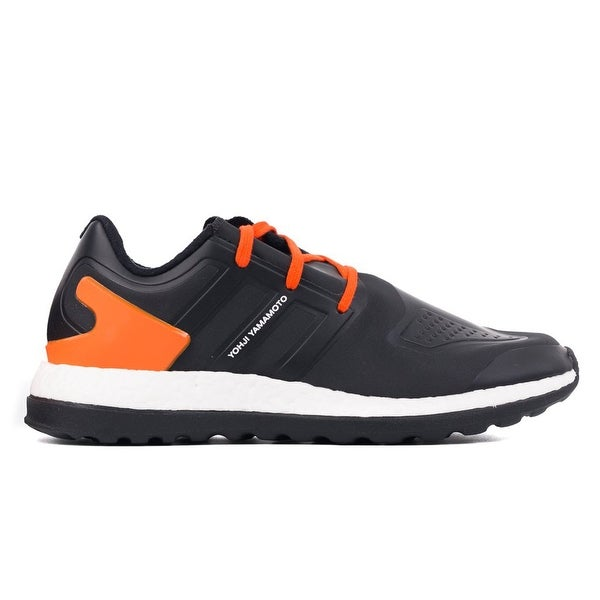 82af8a8a7ed42 Shop Y-3 Black PureBoost ZG Orange Accent Lace Front Low Top ...