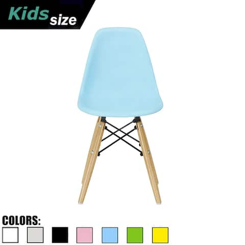 2xhome Designer Modern Accent Kids Toddler Children Chair with Eiffel Natural Wooden Legs for Dining Living Class Bed Room