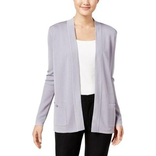 Anne Klein Womens Cardigan Sweater Open Front Long Sleeves