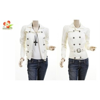 Link to Ivory Double Breasted Fleece Belted Jacket Trench Blazer Coat Top Xs S M L Xl Similar Items in Women's Outerwear