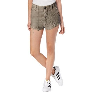 Free People Womens Cutoff Shorts Frayed Button Fly