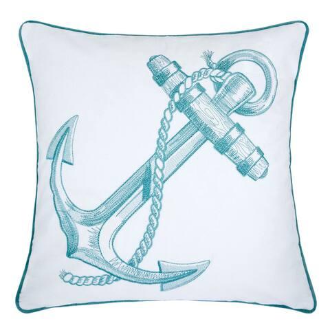 Porch & Den Villard Blue Anchor Feather Fill Accent Pillows (Set of 2)