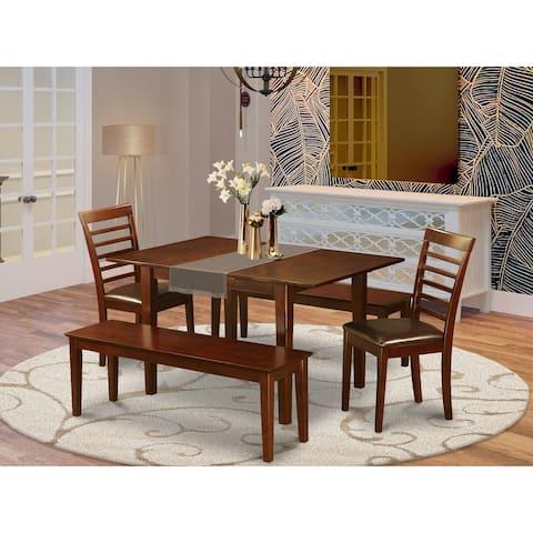 PSML5D-MAH Mahogany 5-piece Dining Table Set