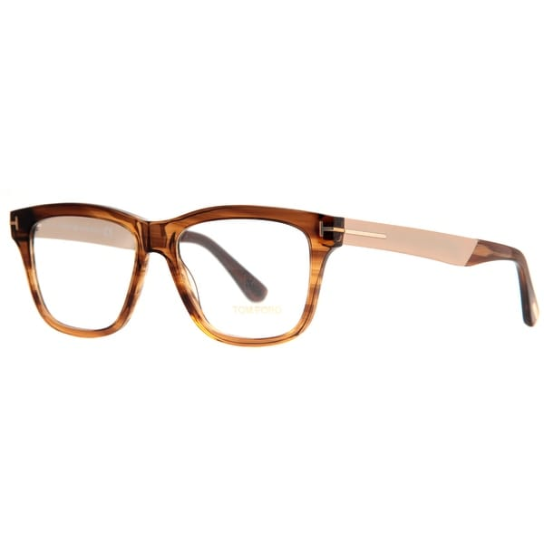 Tom Ford TF 5372 048 54mm Clear Horn Rose Gold Eyeglasses - clear horn rose gold - 54mm-16mm-145mm