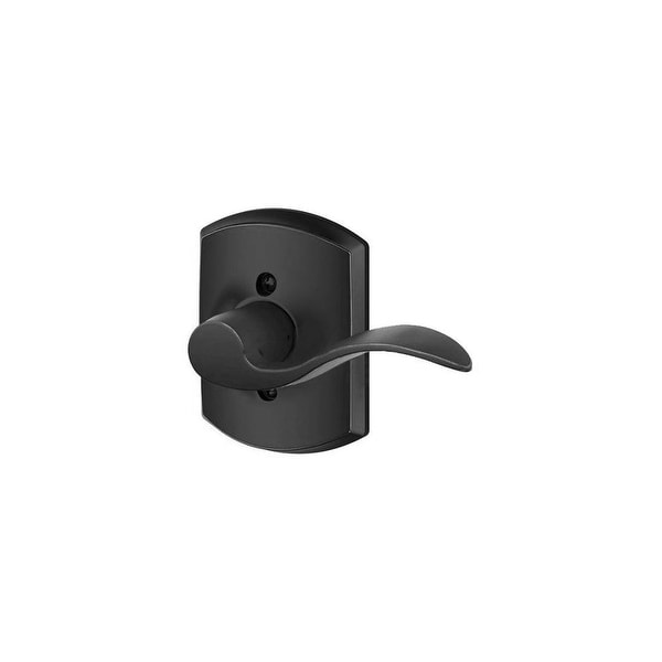 Schlage F170-ACC-GRW-RH Accent Right Handed Non-Turning One-Sided Dummy Door Lever with Decorative Greenwich Trim