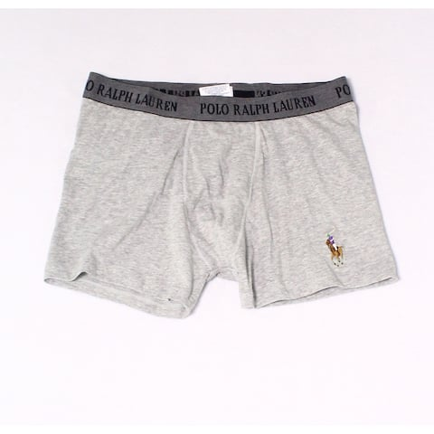 b8cd38b9d3b6 Polo Ralph Lauren Heather Gray Mens Size Medium M Boxer Brief Underwear 314