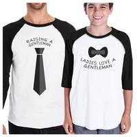 Raising Gentleman Love Gentleman Dad Son Matching Gift T-Shirts