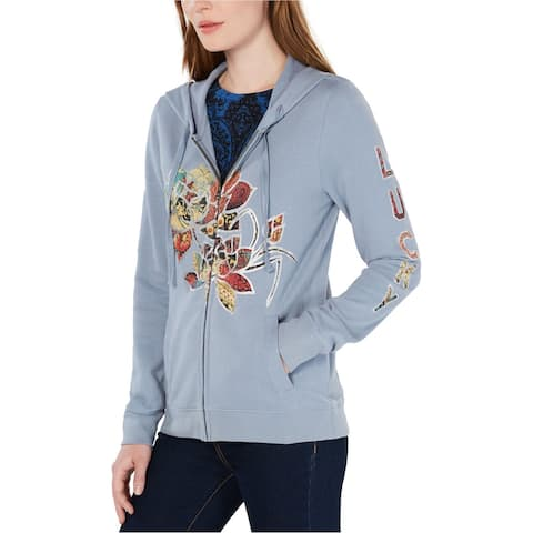 Lucky Brand Womens Legacy Floral Graphic Hoodie Sweatshirt
