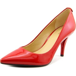 Michael Michael Kors MK-Flex Kitten Pump Women Patent Leather Red Heels