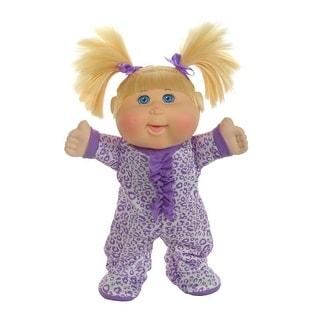 "12.5"" Pajama Dance Party- Blonde Girl/blue eye purple leopard"