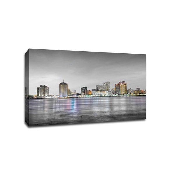 New Orleans - Touch of Color Skylines - 24x16 Gallery Wrapped Canvas ToC