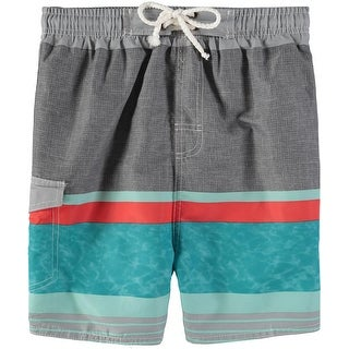 Quad Seven Boys 2T-4T Stripe Swim Trunk (3 options available)