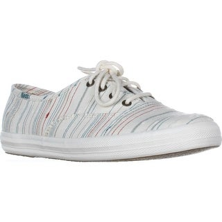 Keds Champion Slub Fashion Sneakers, Cream Stripe