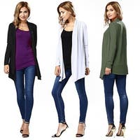Womens Ladies Spring Elegant Long Sleeve Thin Long Cardigan Fashion Top Casual Outwear