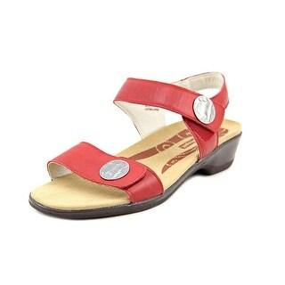 Propet Annika 2E Open Toe Leather Slides Sandal