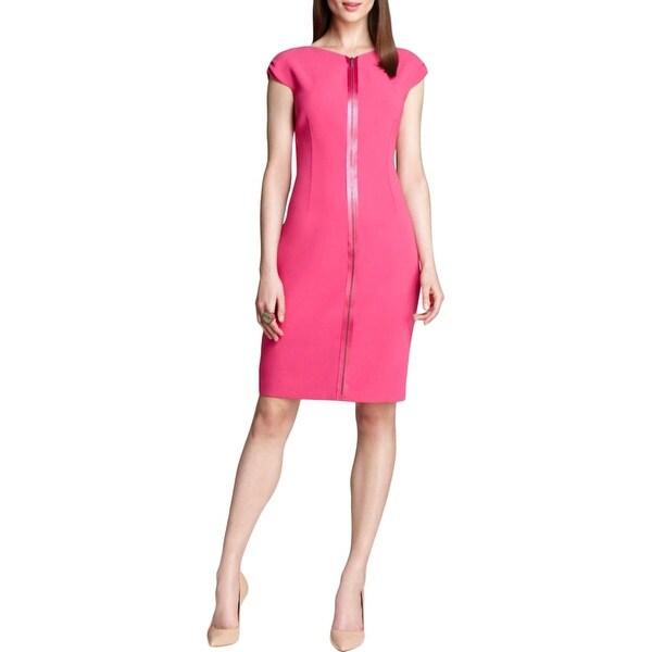 dd1ea77927 Shop Elie Tahari Womens Ruth Casual Dress Crepe Sleeveless - 4 - Free  Shipping Today - Overstock.com - 17366354
