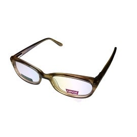 Levi Opthalmic Eyeglass 605E 2 Rectangle Plastic Demi Frame
