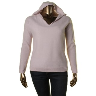 Private Label Womens Cashmere Hooded Pullover Sweater