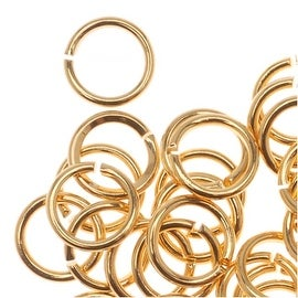 22K Gold Plated Open Jump Rings 5mm 21 Gauge (50)