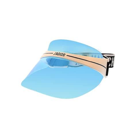 Dior Jadior Visor DiorClub1 G0Y Unisex White Black Blue Mirror Visor