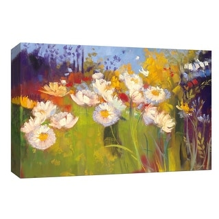 """PTM Images 9-153565  PTM Canvas Collection 8"""" x 10"""" - """"Contemporary Meadow"""" Giclee Flowers Art Print on Canvas"""