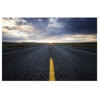"""Long open road at sunset"" Poster Print"