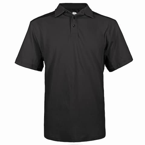 Victory Outfitters Men's Washed Contrast Colorblock Pique Short Sleeve Cotton Blend Polo