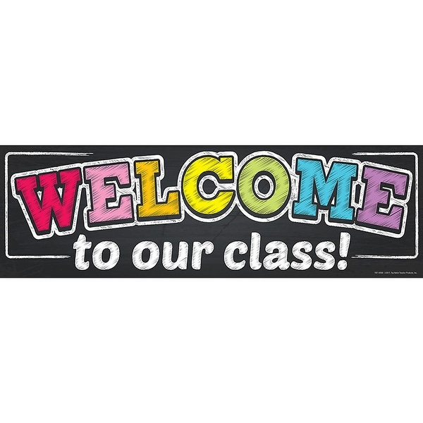 Magnetic Welcome Banner Neon Chalk