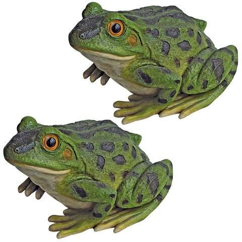 Design Toscano Ribbit the Frog, Garden Toad Statues: Set of Two