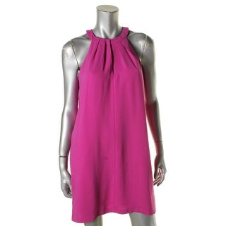 BCBG Max Azria Womens Tristyn Casual Dress Pleated Halter