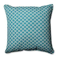 """Hockley Teal Floor Pillow 25"""" - White"""