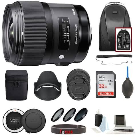 Sigma 35mm f/1.4 DG HSM ART Lens for Canon EF Accessory Bundle