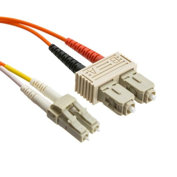 Offex Fiber Optic Cable, LC / SC, Multimode, Duplex, 50/125, 3 meter (10 foot)