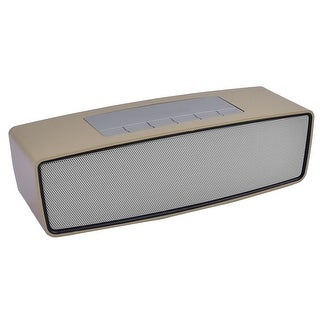 Laptop Mini Wireless bluetooth 3D Stereo Music Surround Speaker Gold Tone