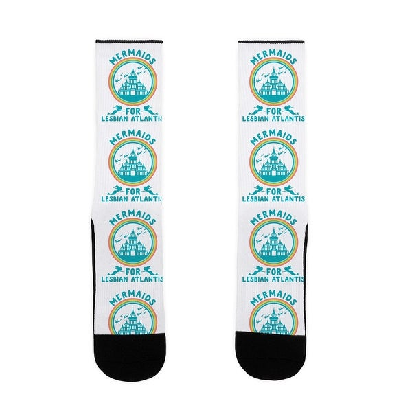 Mermaids For Lesbian Atlantis US Size 7-13 Socks by LookHUMAN
