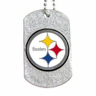 Pittsburgh Steelers Dog Fan Tag Glitter Necklace NFL