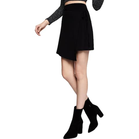BCBGeneration Womens Wrap Skirt Matte A-Line