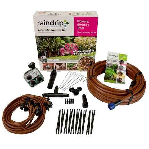 Raindrip SDFSTH1P Flower, Shrub and Tree Kit with Timer