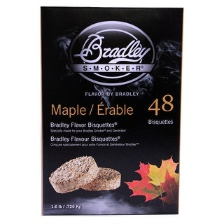 Bradley Smoker Btmp48 Maple Flavor Bisquettes Pack Of 48