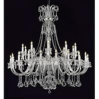 "New Crystal Chandelier Lighting , 30 Lights , H53"" X W 53"" Ceiling Fixture Pendant"