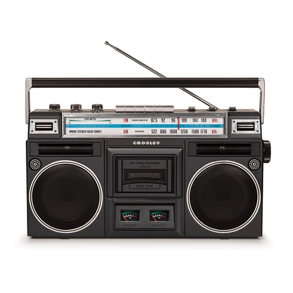 "Ct201 Cassette Player - 11.5 ""W x 3.5 ""D x 4.75 ""H. Opens flyout."