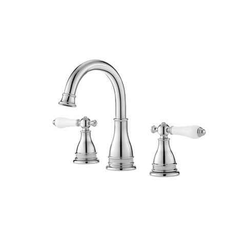 Pfister LF-WL8-SNP Sonterra 1.2 GPM Widespread Bathroom Faucet - Includes Pop-Up Drain Assembly - Polished chrome