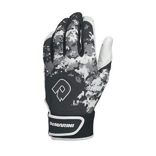DeMarini 1113629 Digi Camo II Youth Batting Gloves, Black - Large